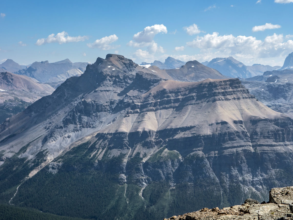 Noseeum Peak on Bow Peak scramble in Banff National Park