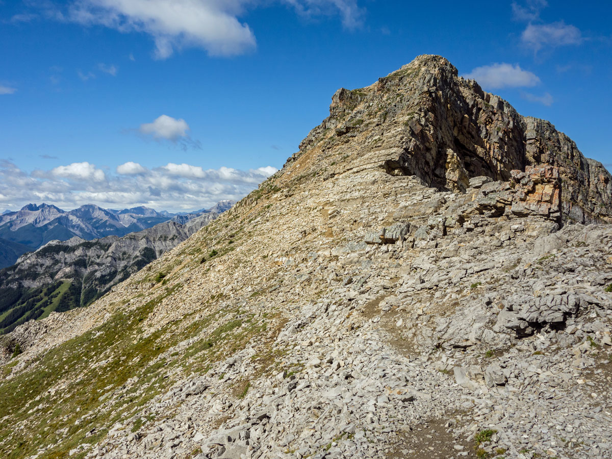 Great panorama from Cascade Mountain scramble in Banff National Park