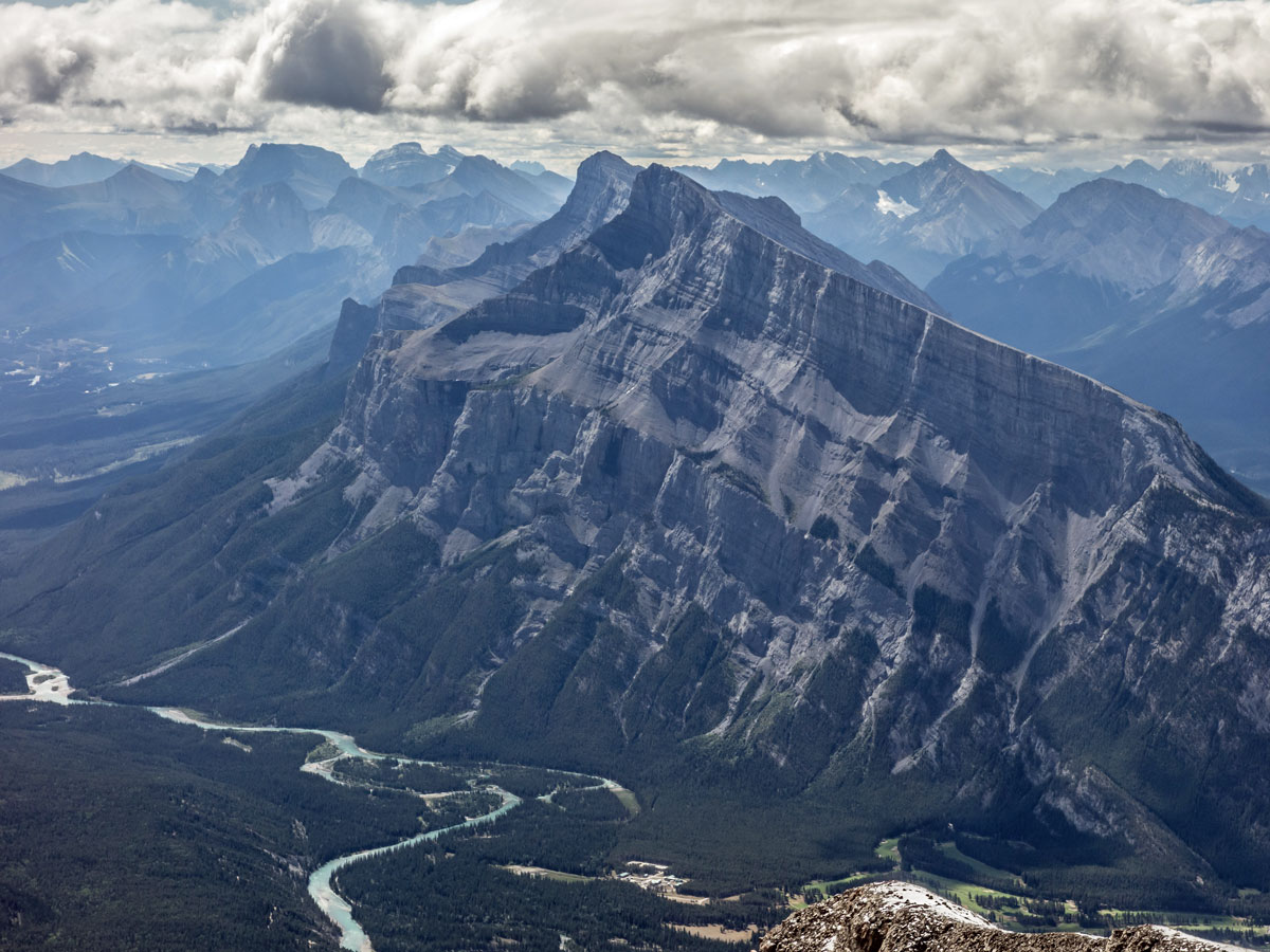 Mount Rundle on Cascade Mountain scramble in Banff National Park