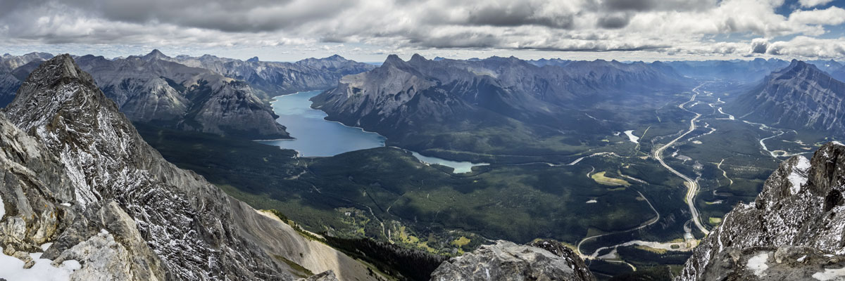 Valley views from Cascade Mountain scramble in Banff National Park