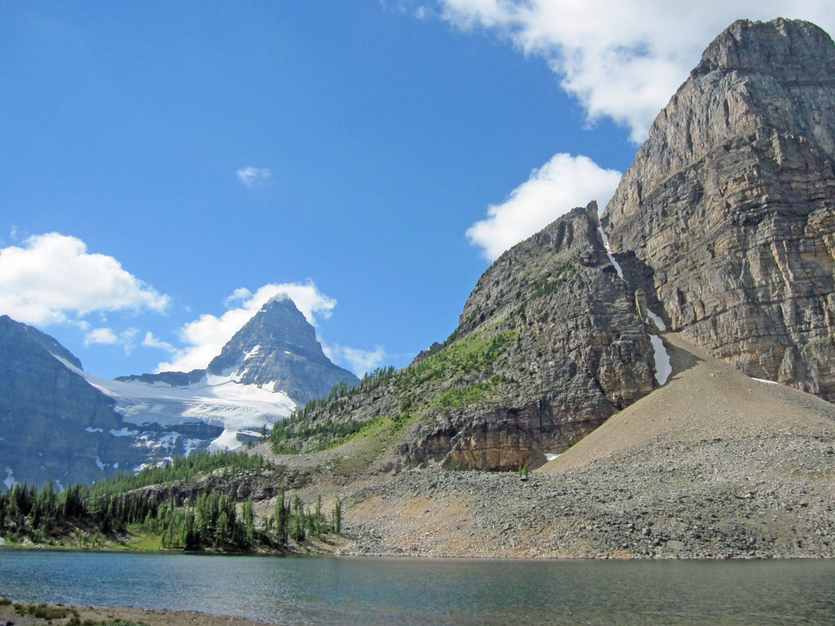 Stunning views from Sunshine Village to Mt. Assiniboine backpacking trail in Banff National Park