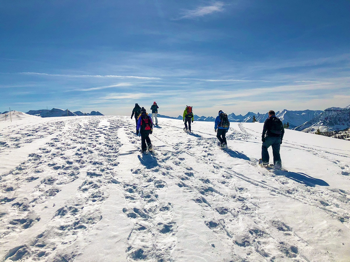 Snowshoeing on top of the world at Sunshine