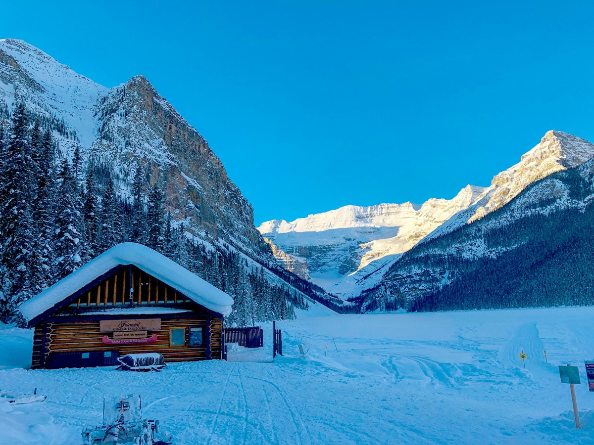Winter on Fairview Loop XC ski trail in Lake Louise, Banff National Park
