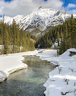 Goat Creek to Banff Springs XC ski trail in Banff National Park, Alberta