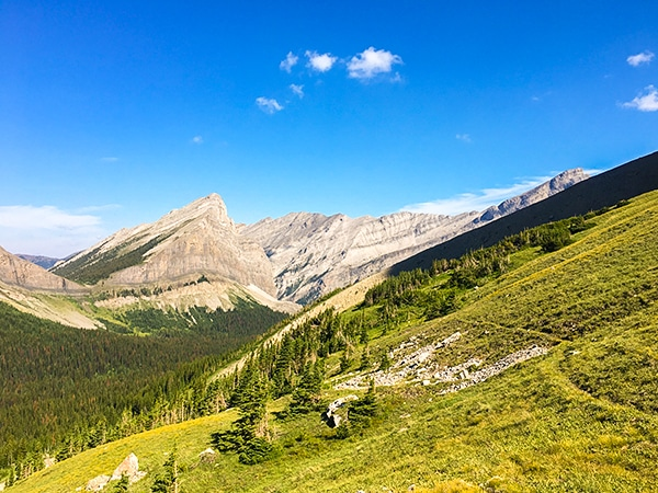 Views from Great Divide Trail in Canadian Rocky Mountains