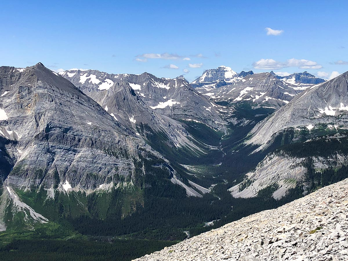 Incredible views from Mount Indefatigable - South Peak scramble in Kananaskis near Canmore, the Canadian Rockies