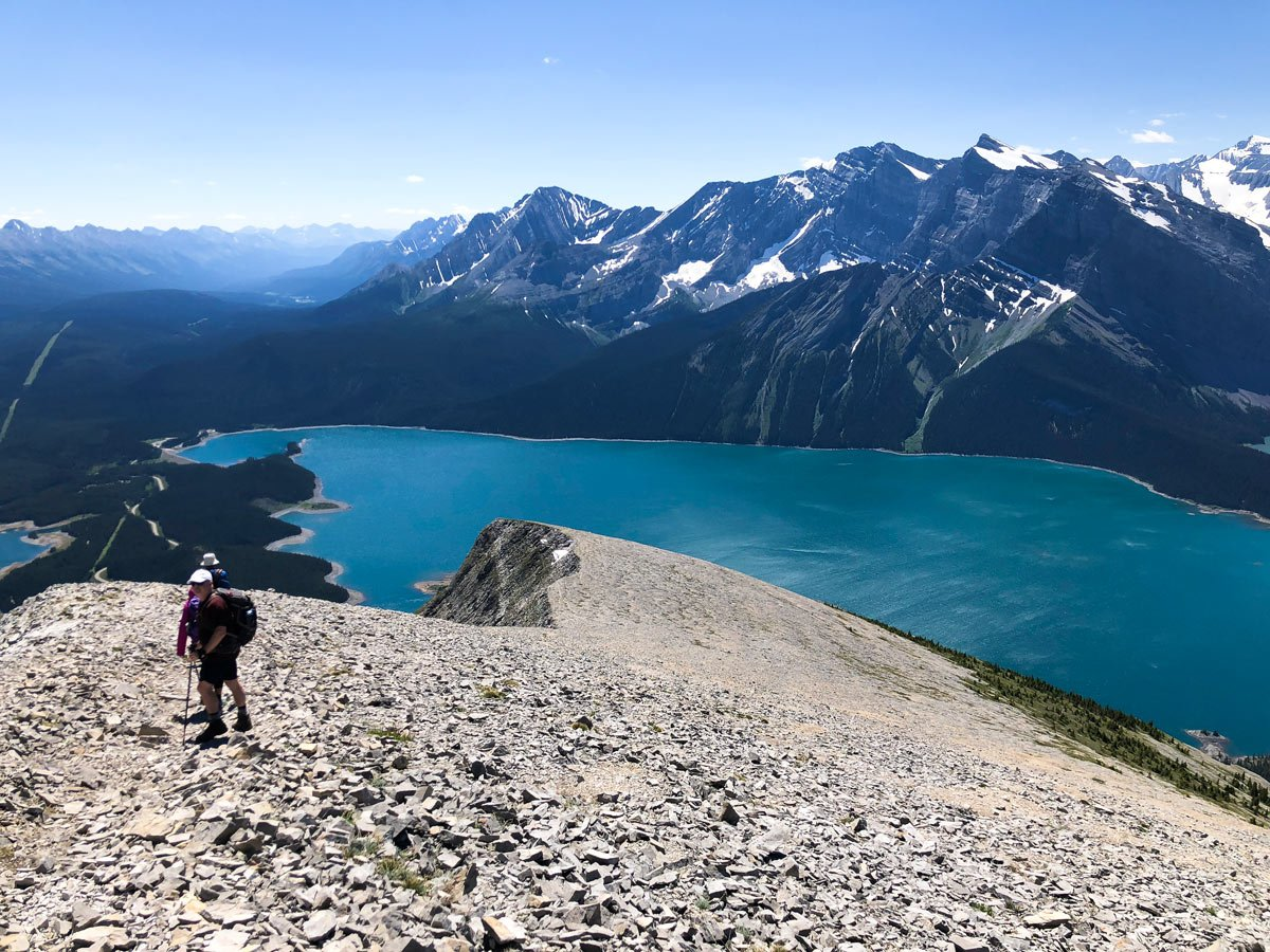 Trail of Mount Indefatigable - South Peak scramble in Kananaskis near Canmore, the Canadian Rockies
