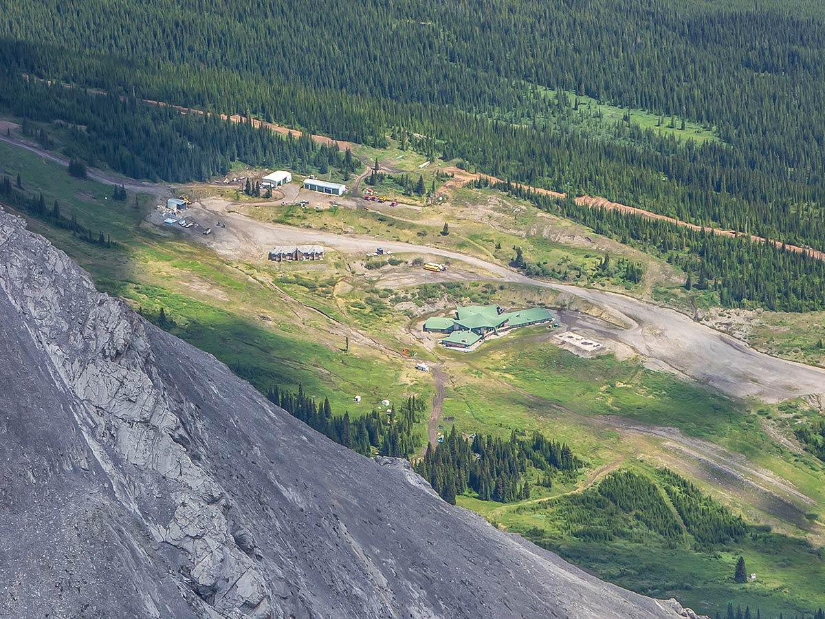 Old Fortress Ski Hill on Mount James Walker scramble in Kananaskis near Canmore, the Canadian Rockies