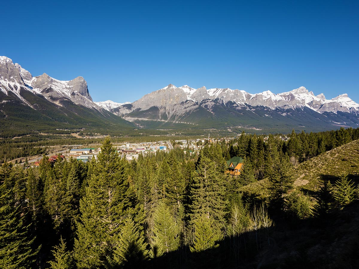 Trail of Grotto Mountain scramble in Canmore, the Canadian Rockies