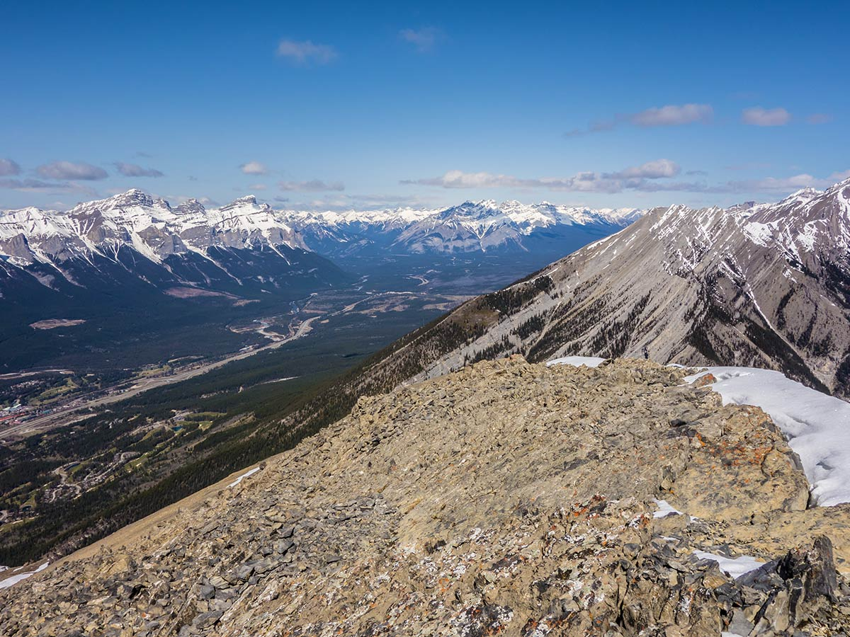 Ridgecrest of Grotto Mountain scramble in Canmore, the Canadian Rockies