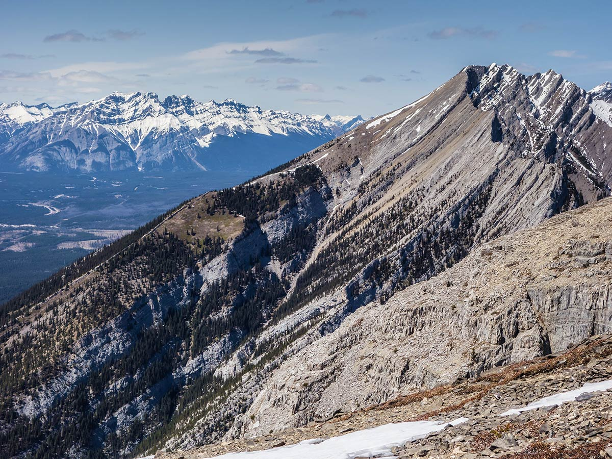 Mt Lady MacDonald on Grotto Mountain scramble in Canmore, the Canadian Rockies