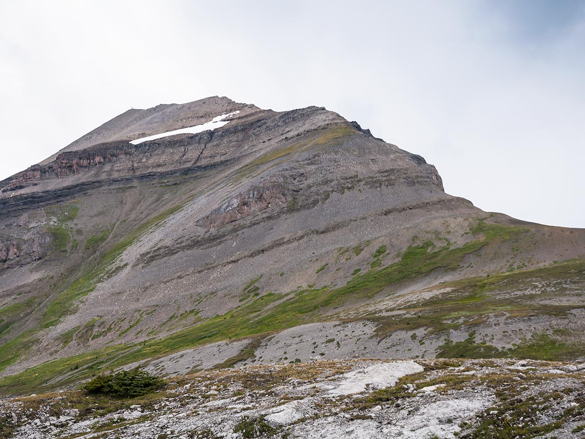 Ascend of Snow Peak scramble in Kananaskis near Canmore, the Canadian Rockies