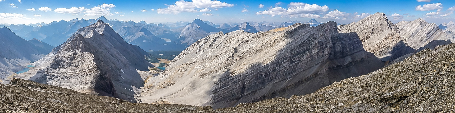 Panoramic views from the Fortress scramble in Kananaskis, the Canadian Rockies