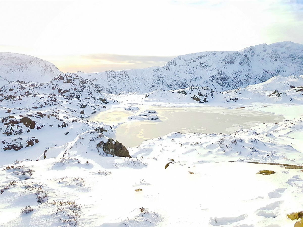 Frozen Innominate Tarn in Lake District