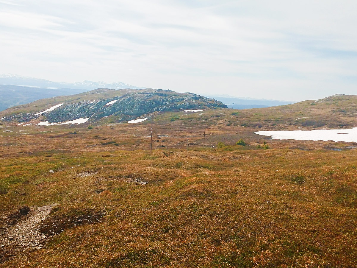 Panorama of Mullfjället hike in Åre, Sweden