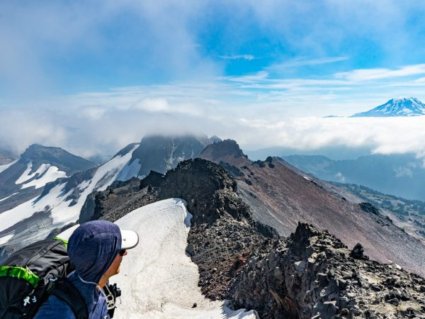 Hiking to the Mount Adams peak