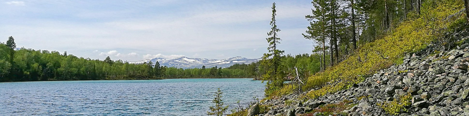 Panorama of Blanktjärnsrundan hike in Åre, Sweden