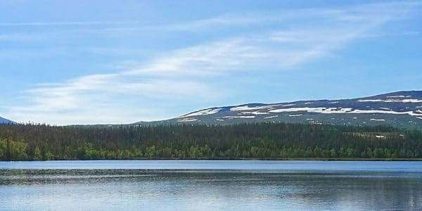 Panorama of Nulltjärnsrundan hike in Åre, Sweden