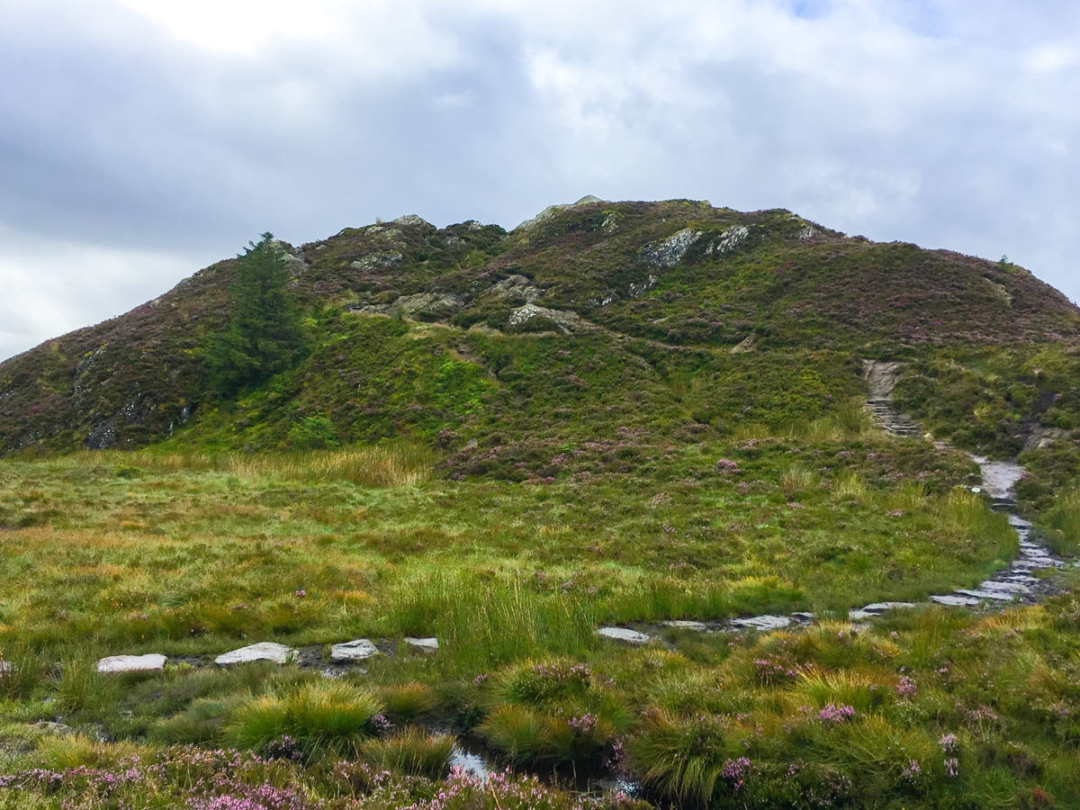 Final ascent of Ben A'an hike in Loch Lomond and The Trossachs region in Scotland