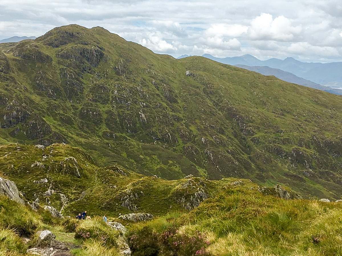 Great views on Ben Venue hike in Loch Lomond and The Trossachs region in Scotland