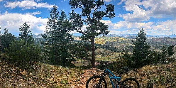 Panorama on Heil Valley Ranch MTB trail near Boulder, Colorado