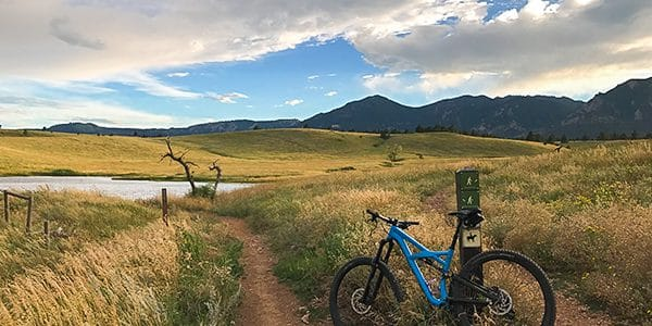 Marshall Mesa mountain biking trail near Boulder, Colorado
