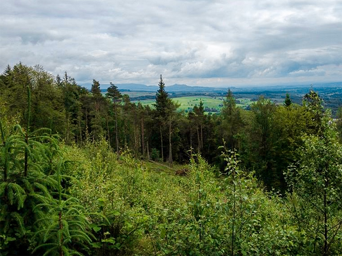 Panoramic views on Callander Crags hike in Loch Lomond and The Trossachs region in Scotland