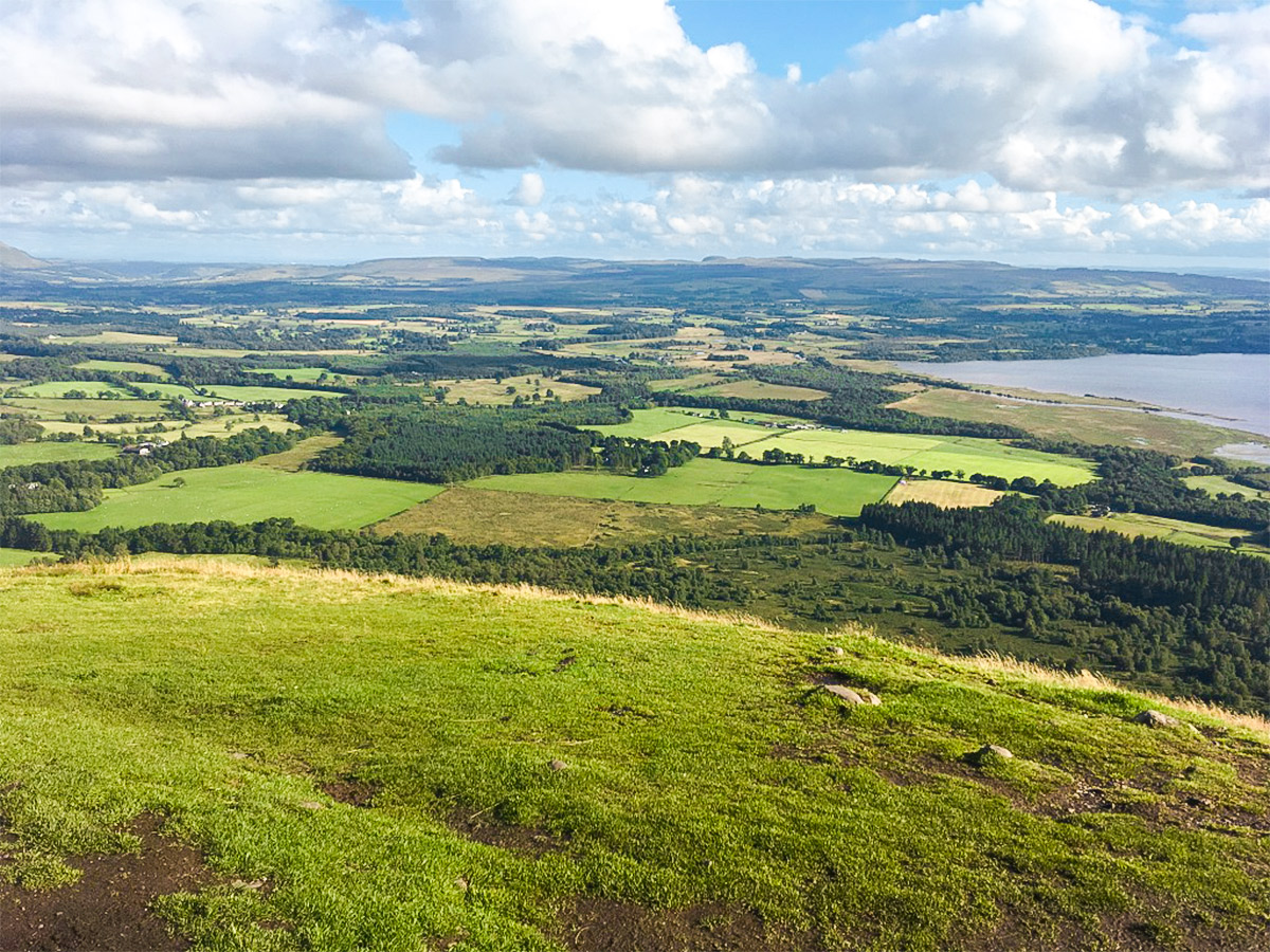 Plains to the south of Conic Hill hike in Loch Lomond and The Trossachs region in Scotland