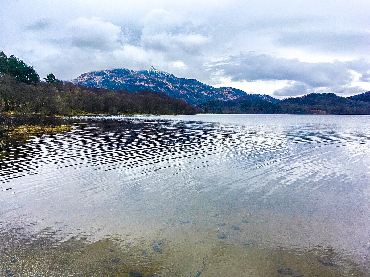 Ben Venue view on The Great Trossachs Path 2 hike in Loch Lomond and The Trossachs region in Scotland