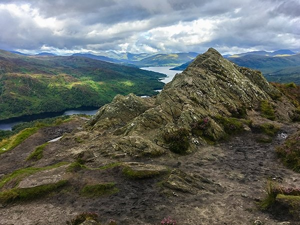 Scenery of Ben A'an hike in Loch Lomond and The Trossachs area in Scotland