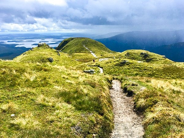 Great views on Ben Lomond hike in Loch Lomond and The Trossachs area in Scotland