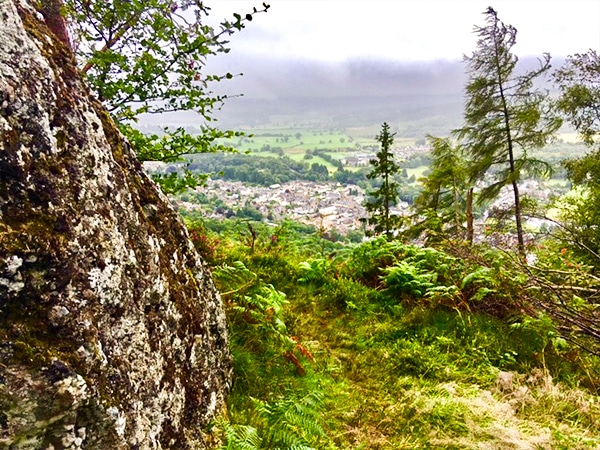 Views from the Callander Crags hike in Scotland