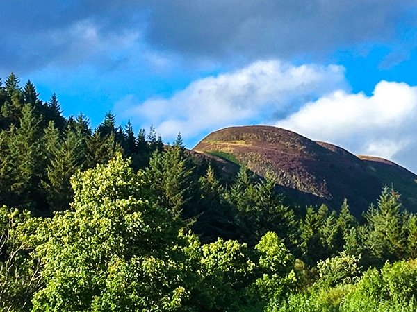 Trail of Conic Hill hike in Loch Lomond and The Trossachs area in Scotland