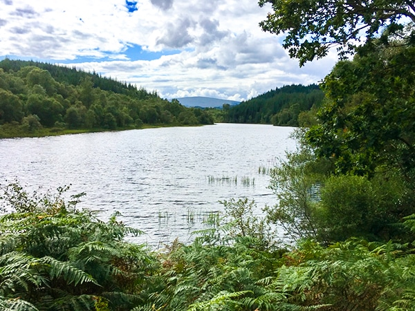 Scenery of Lochan Spling hike in Loch Lomond and The Trossachs area in Scotland
