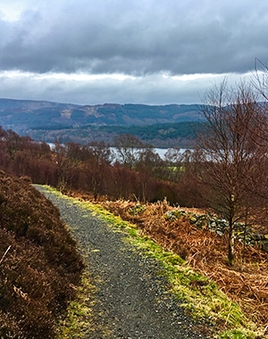 The Great Trossachs Path 2 hike in Loch Lomond and The Trossachs area in Scotland