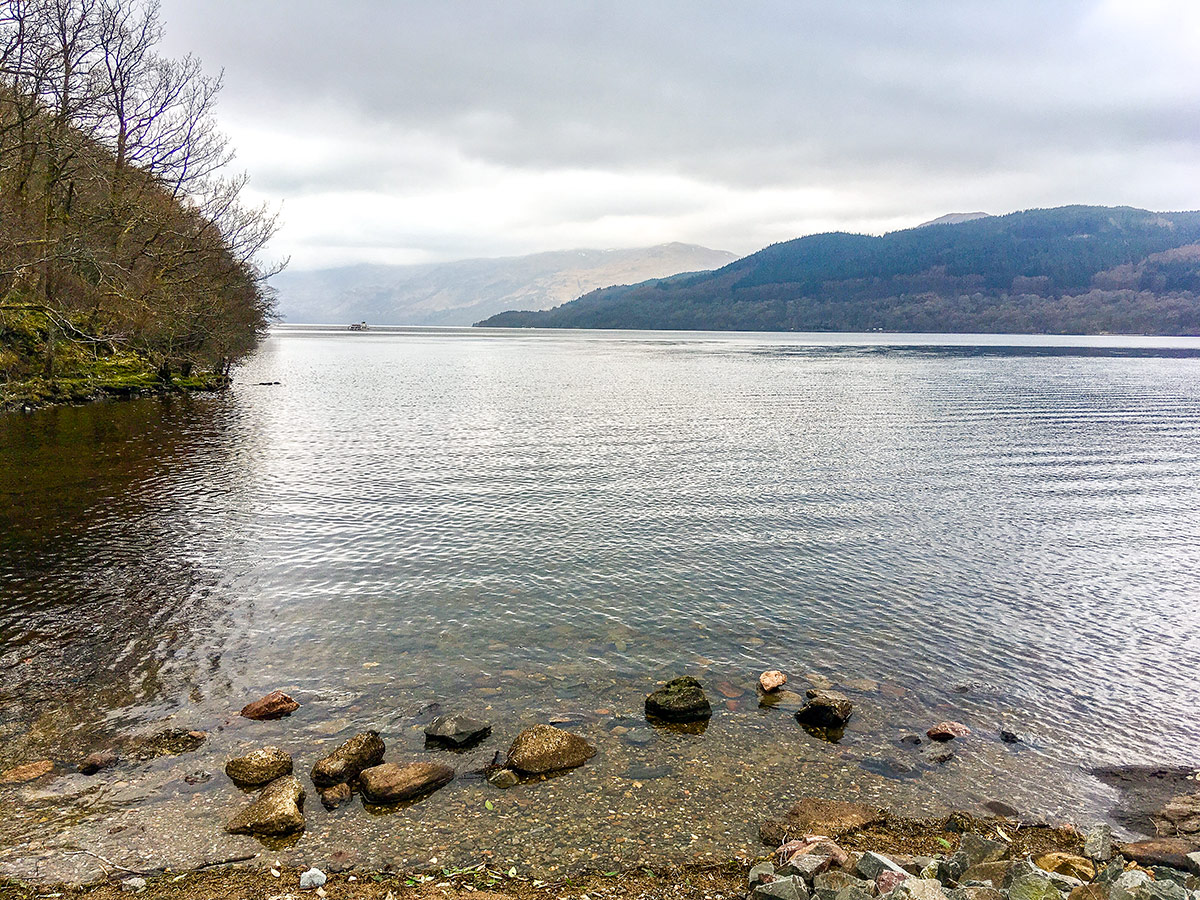 Loch Lomond on The Great Trossachs Path 1 hike in Loch Lomond and The Trossachs region in Scotland