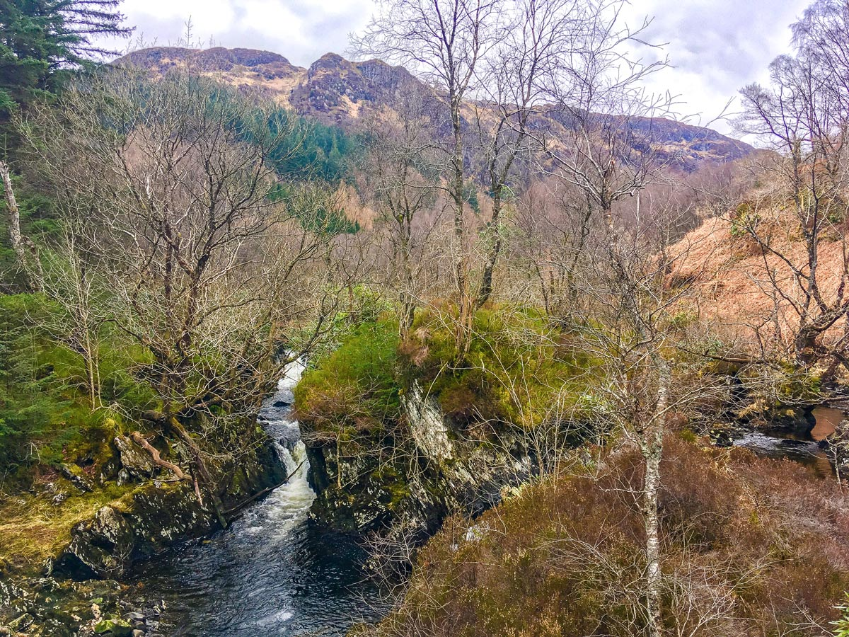 Achray Water on The Great Trossachs Path 2 hike in Loch Lomond and The Trossachs region in Scotland