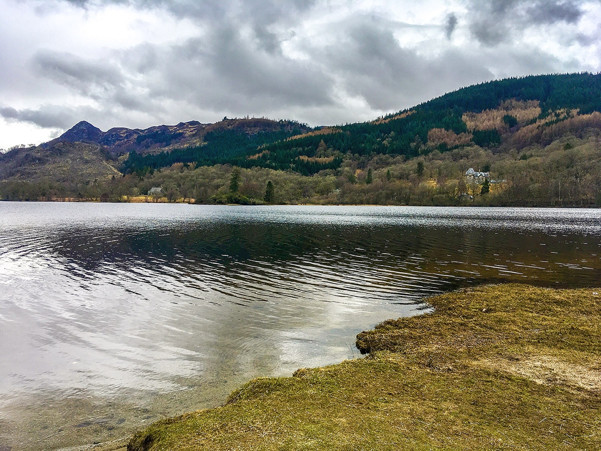 Loch Achray and Ben A'an on The Great Trossachs Path 2 hike in Loch Lomond and The Trossachs region in Scotland