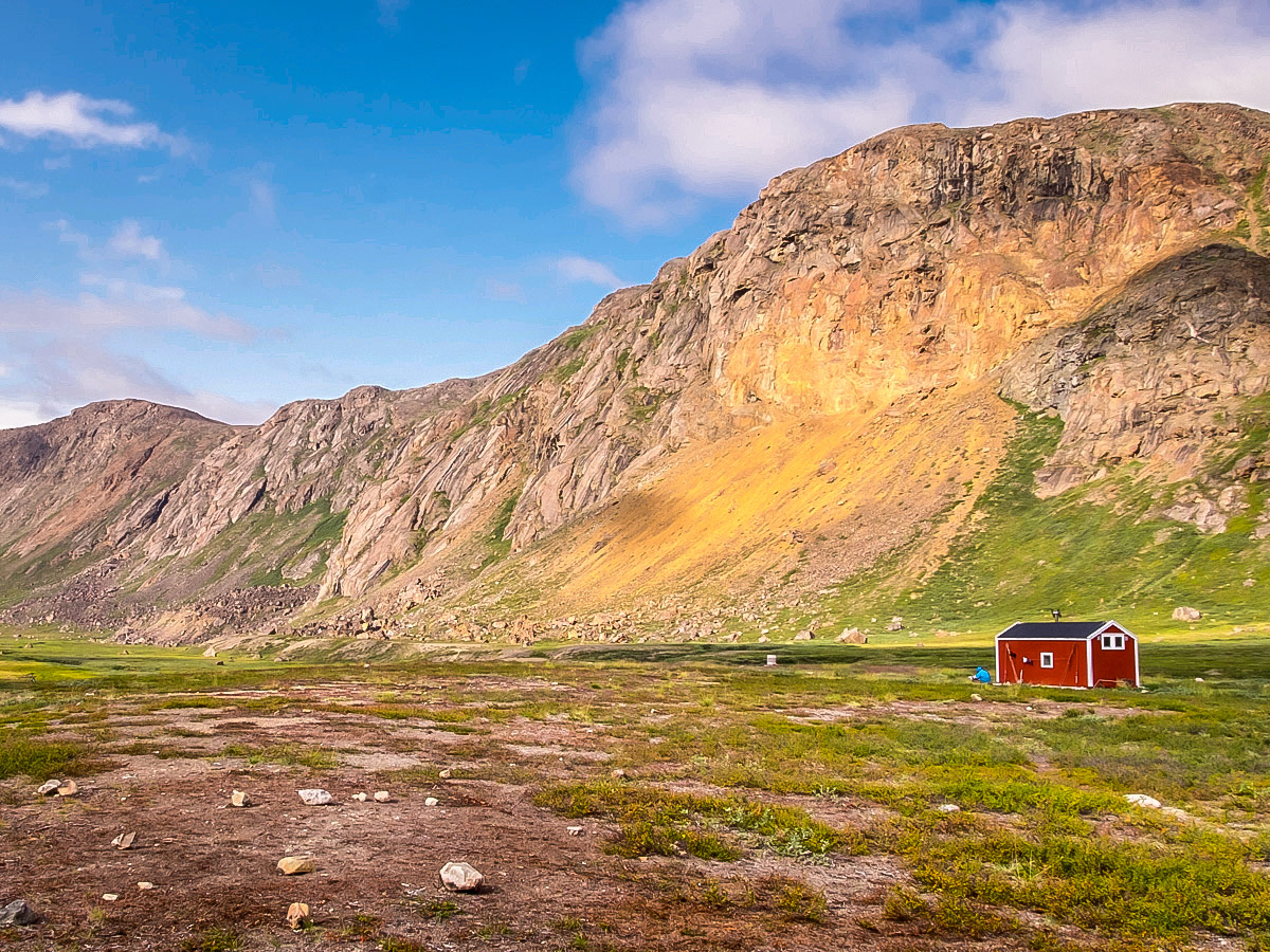 Typical small hut on Arctic Circle Trail hike