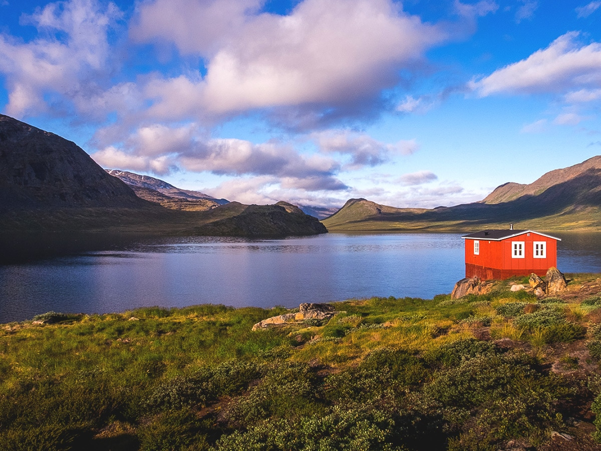 Lakehouse on Greenland's Arctic circle trail