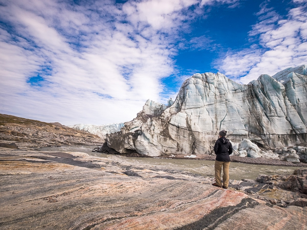 Start of Greenland's Arctic circle trail near Russell Glacier
