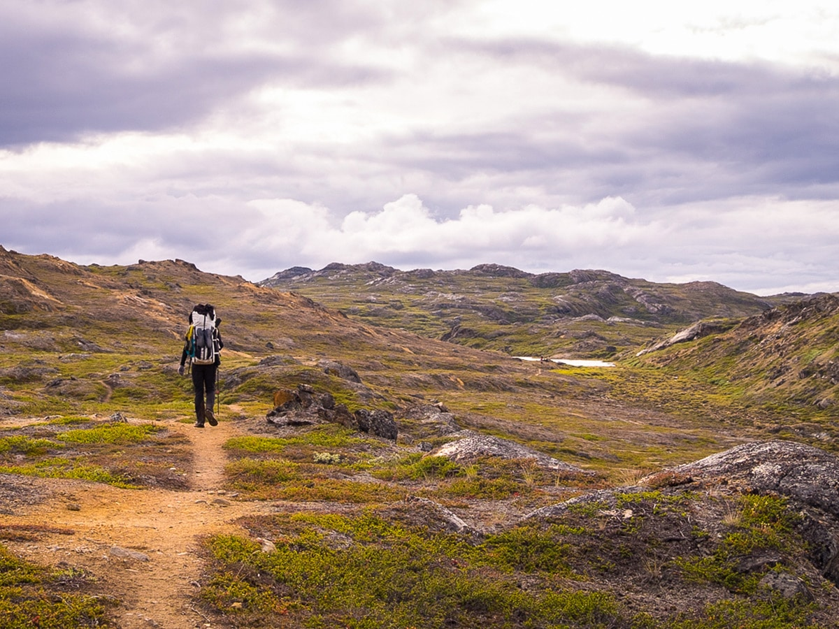 Wilderness along Greenland's Arctic circle trail