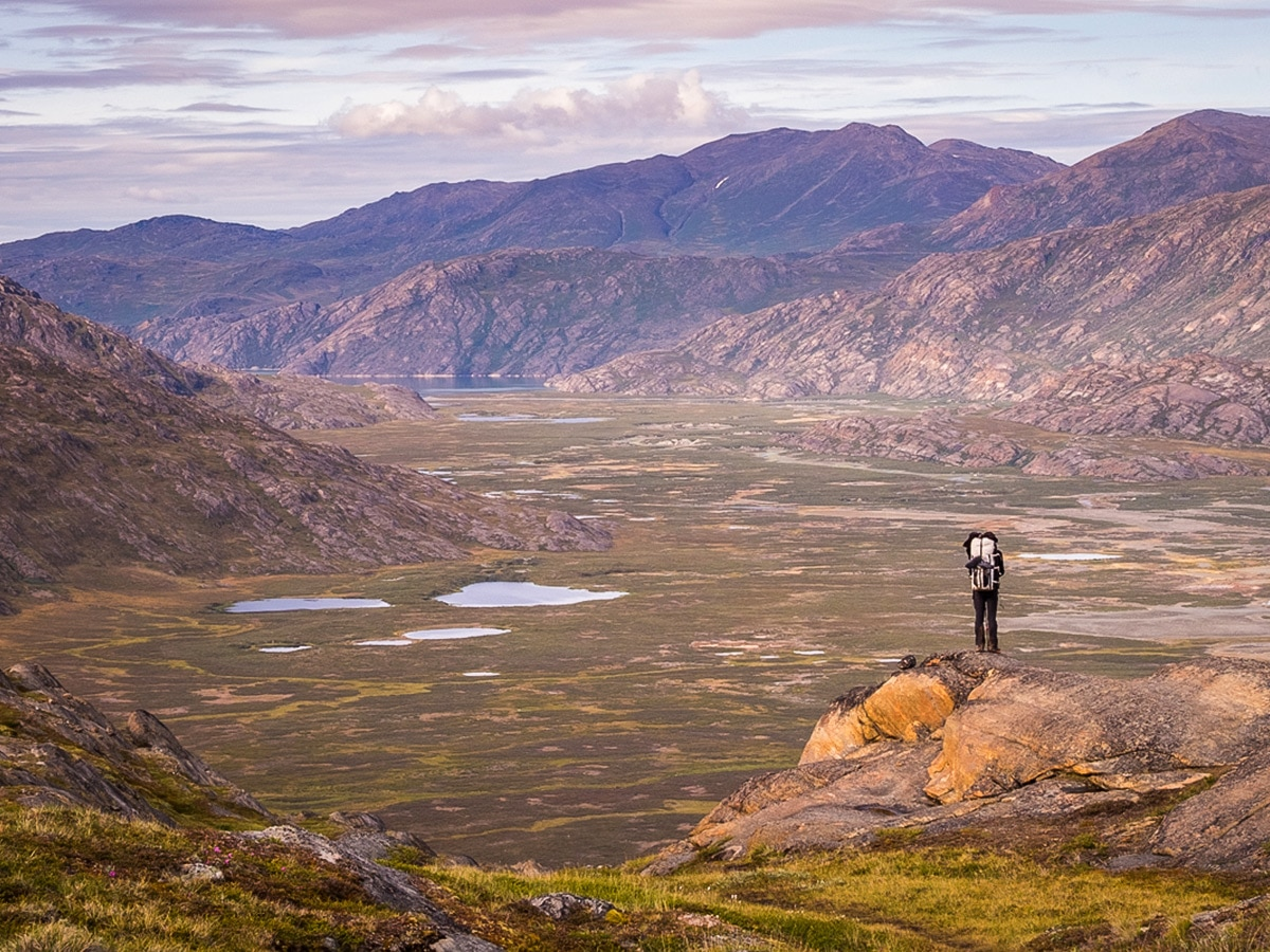 Vast wilderness on Greenland's Arctic circle trail