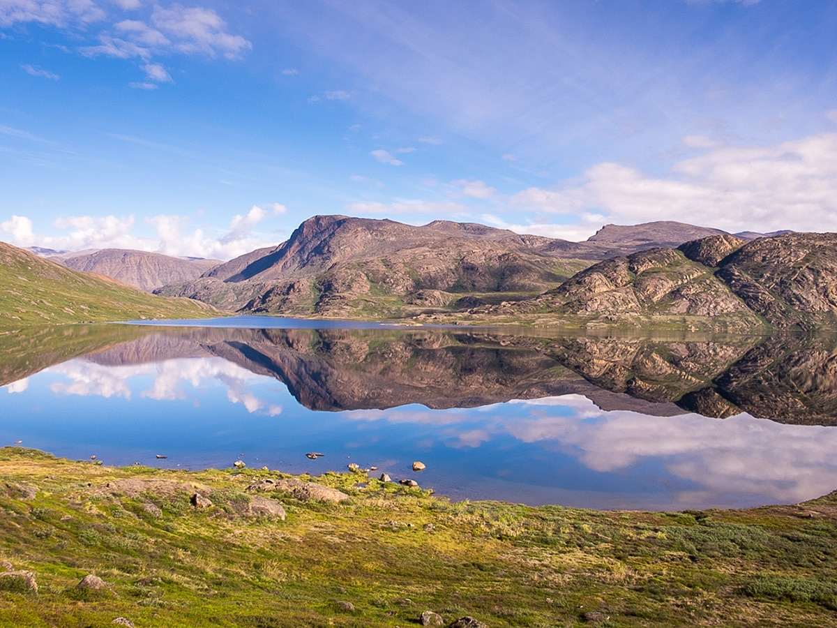 One of many lakes along Greenland's Arctic circle trail
