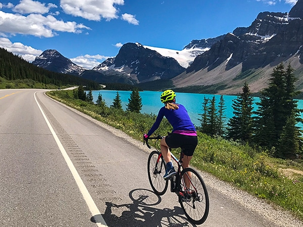 Road Biking Trail from Lake Louise to Bow Summit
