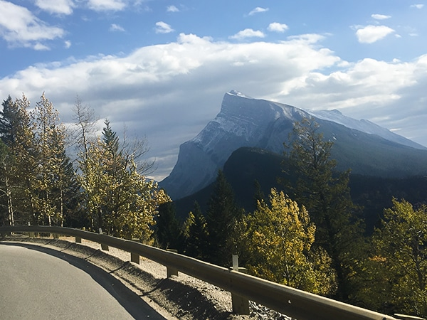 Scenery on Norquay Road road biking route in Banff National Park, the Canadian Rockies