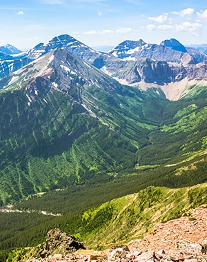 Syncline Mountain on Mount Coulthard scramble in Castle Provincial Park, Alberta