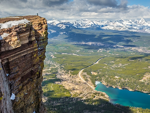 Table Mountain Scramble in Castle Provincial Park, Alberta