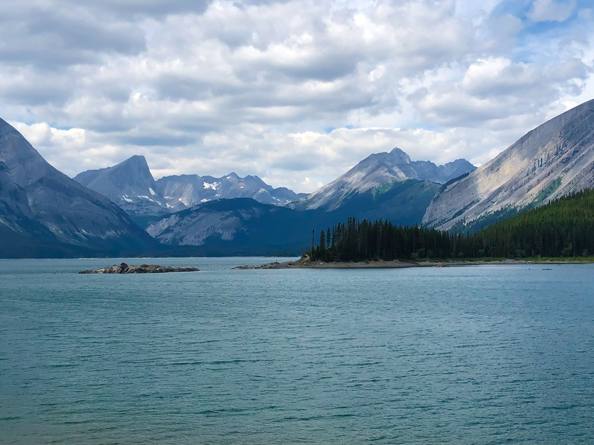 Incredible views on Point Campground and Upper Kananaskis Lake backpacking trail in Kananaskis near Canmore