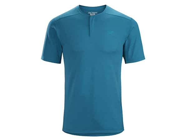 Arc'teryx Kadem Henley t-shirt in blue for men